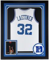 Christian Laettner Signed 35x43 Custom Framed Jersey Display (JSA Hologram) at PristineAuction.com