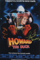 """Ed Gale & Lea Thompson Signed """"Howard the Duck"""" 12x18 Photo Inscribed """"Howard T. Duck"""" & """"Beverly"""" (AutographCOA COA) at PristineAuction.com"""