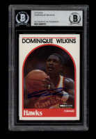 Dominique Wilkins Signed 1989-90 Hoops #130 (BGS Encapsulated) at PristineAuction.com