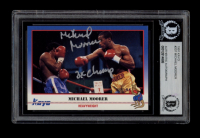 """Michael Moorer Signed 1991 Kayo #207 Inscribed """"3x Champ"""" (BGS Encapsulated) at PristineAuction.com"""