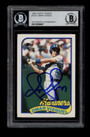 Omar Vizquel Signed 1989 Topps Traded #122T RC (BGS Encapsulated) at PristineAuction.com