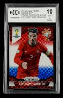 Cristiano Ronaldo 2014 Panini Prizm World Cup Prizms Red White and Blue #161 (BCCG 10) at PristineAuction.com