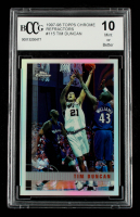 Tim Duncan 1997-98 Topps Chrome Refractors #115 (BCCG 10) at PristineAuction.com