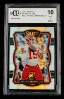 Patrick Mahomes II 2017 Select Prizm Silver #103 (BCCG 10) at PristineAuction.com