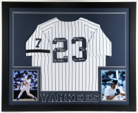 Don Mattingly Signed 35x43 Custom Framed Jersey Display with Multiple Inscriptions (Beckett Hologram) at PristineAuction.com