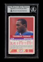 Thurman Thomas Signed 1989 Score #211 RC (BGS Encapsulated) at PristineAuction.com