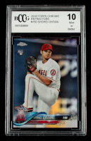 Shohei Ohtani 2018 Topps Chrome Refractors #150 (BCCG 10) at PristineAuction.com