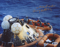 """Clancy Hatleberg Signed NASA 8x10 Photo Inscribed """"With Best Wishes"""" (Beckett COA) at PristineAuction.com"""