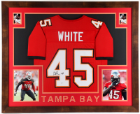 Devin White Signed 35x43 Custom Framed Jersey Display (Beckett COA) at PristineAuction.com