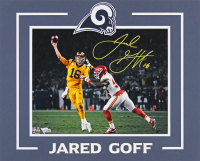 Jared Goff Signed Rams 16x20 Custom Matted Photo Display (Fanatics Hologram) at PristineAuction.com