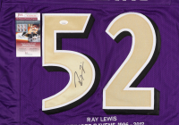 Ray Lewis Signed Career Highlight Stat Jersey (JSA COA) at PristineAuction.com