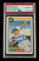 Mickey Mantle Signed 1983 Donruss HOF Heroes #7 (PSA Encapsulated) at PristineAuction.com