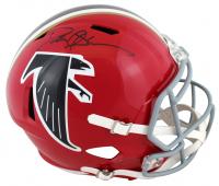 Deion Sanders Signed Falcons Full-Size Speed Helmet (Beckett Hologram) at PristineAuction.com