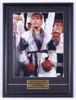 Julio Cesar Chavez Signed 15x20 Custom Framed Photo Display (PSA COA) at PristineAuction.com