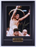 Julio César Chávez Signed 15x20 Custom Framed Photo Display (PSA COA) at PristineAuction.com
