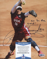 """Lisa Fernandez Signed Team USA 8x10 Photo Inscribed """"Go For the Gold! 96, 00, 04"""" (Beckett COA) at PristineAuction.com"""