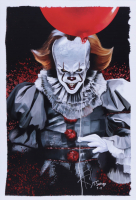 """Tony Santiago - Pennywise - """"IT"""" 13x19 Signed Lithograph (PA COA) at PristineAuction.com"""