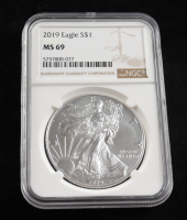 2019 American Silver Eagle $1 One Dollar Coin (NGC MS 69) at PristineAuction.com