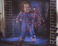 """Ed Gale Signed """"Child's Play"""" 8x10 Photo Inscribed """"Bring me the Boy!"""" & """"as Chucky"""" (AutographCOA COA) at PristineAuction.com"""