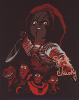 """Ed Gale Signed """"Child's Play"""" 8x10 Photo Inscribed """"as Chucky"""" (AutographCOA COA) at PristineAuction.com"""