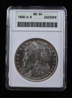 1898-O Morgan Silver Dollar (ANACS MS64) (See Description) at PristineAuction.com