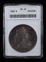 1883 Morgan Silver Dollar (ANACS MS63) (Toned) (See Description) at PristineAuction.com