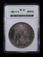 1884-O Morgan Silver Dollar (ANACS MS64) at PristineAuction.com