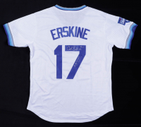 """Carl Erskine Twice-Signed Dodgers Jersey Inscribed """"2 No Hitters"""" (Beckett COA) at PristineAuction.com"""