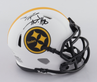 T.J. Watt Signed Steelers Lunar Eclipse Alternate Speed Mini-Helmet (Beckett COA) at PristineAuction.com