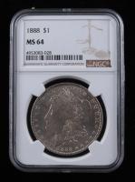 1888 Morgan Silver Dollar (NGC MS64) at PristineAuction.com