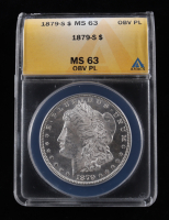 1879-S Morgan Silver Dollar (ANACS MS63 Obverse Proof Like) at PristineAuction.com