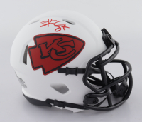 Travis Kelce Signed Chiefs Lunar Eclipse Alternate Speed Mini-Helmet (Beckett Hologram) at PristineAuction.com