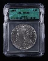 1886 Morgan Silver Dollar (ICG MS63) at PristineAuction.com
