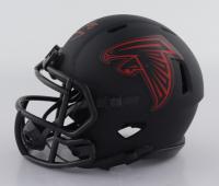 Tony Gonzalez Signed Falcons Eclipse Alternate Speed Mini-Helmet (Beckett Hologram) at PristineAuction.com