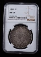 1886 Morgan Silver Dollar (NGC MS63) (Toned) at PristineAuction.com