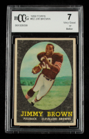 Jim Brown 1958 Topps #62 RC (BCCG 7) at PristineAuction.com