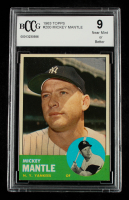 Mickey Mantle 1963 Topps #200 (BCCG 9) at PristineAuction.com