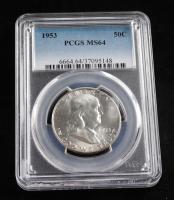 1953 50¢ Franklin Silver Half-Dollar (PCGS MS64) at PristineAuction.com