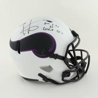 "Cris Carter Signed Vikings Full-Size Lunar Eclipse Alternate Speed Helmet Inscribed ""All I Do Is Catch TD's"" (Schwartz COA) at PristineAuction.com"