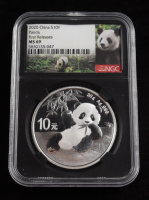 2020 China $10Y Ten-Yuan Silver Panda Coin, First Releases (NGC MS69) at PristineAuction.com