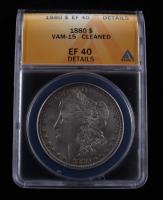 1880 Morgan Silver Dollar VAM-15 (ANACS XF40 Details) at PristineAuction.com