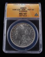 1888 Morgan Silver Dollar, VAM-12A DDR Hot 50 (ANACS MS60 Details) at PristineAuction.com