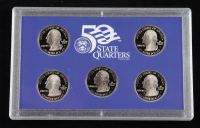 2008-S United States Mint 50 State Quarters Proof Set with (5) Coins & Original Packaging at PristineAuction.com