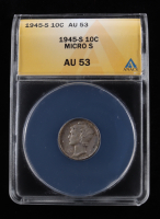 1945-S Mercury Silver Dime, Micro S (ANACS AU53) at PristineAuction.com