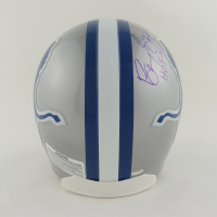 """Barry Sanders Signed Lions Full-Size Authentic On-Field Helmet Inscribed """"HOF '04"""" (Schwartz Sports Hologram) at PristineAuction.com"""