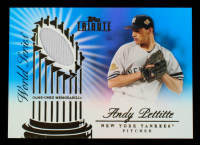 Andy Pettitte 2012 Topps Tribute World Series Swatches Blue #AP # 37 / 50 at PristineAuction.com