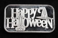 1 Troy oz .999 Silver Happy Halloween Bullion Bar at PristineAuction.com