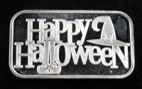 1 oz .999 Silver Happy Halloween Bullion Bar at PristineAuction.com