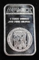 1 Troy Ounce .999 Fine Silver APMEX Bullion Bar at PristineAuction.com