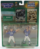"""Johnny Unitas & Raymond Berry Starting Lineup """"Classic Doubles"""" Action Figures With Two Cards (See Description) at PristineAuction.com"""